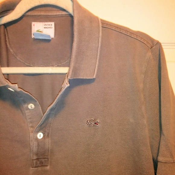 Lacoste Other - 90s LACOSTE silver gator , vintage washed polo